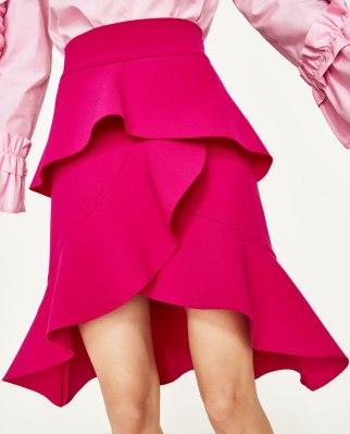 falda volantes Zara