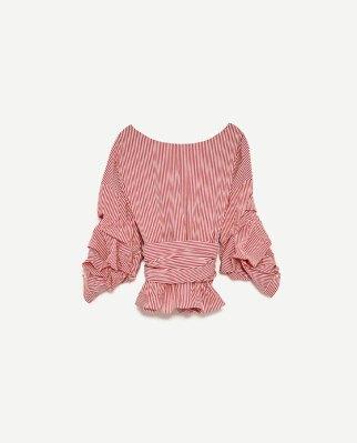 camisa anudada Zara