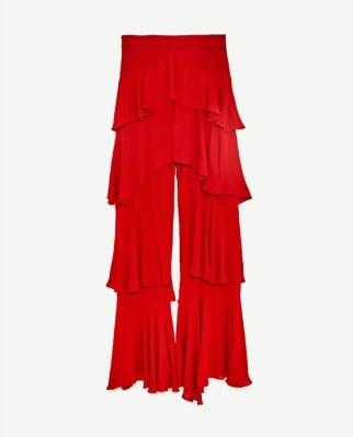 Pantalón volantes Zara