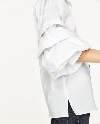 camisa mangas Zara