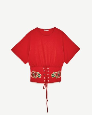 Camiseta corsé Zara